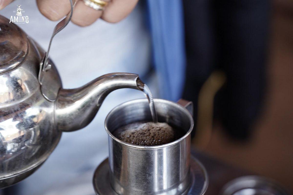 Cách Pha cà phê phin đậm đà với Amino