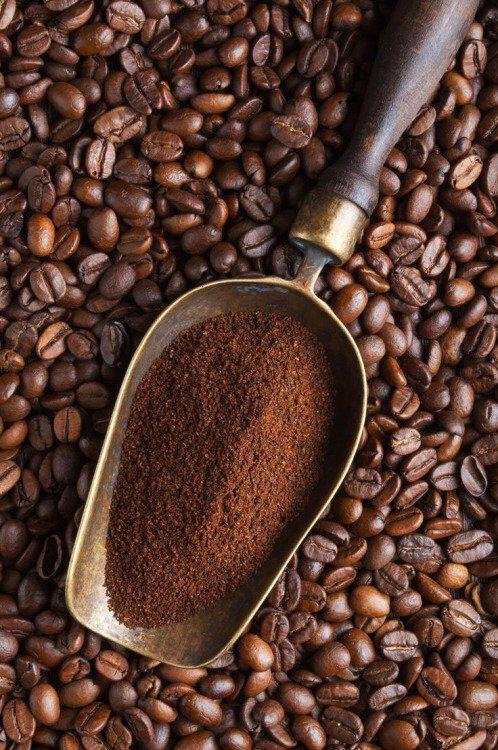 Màu bột cà phê rang xay