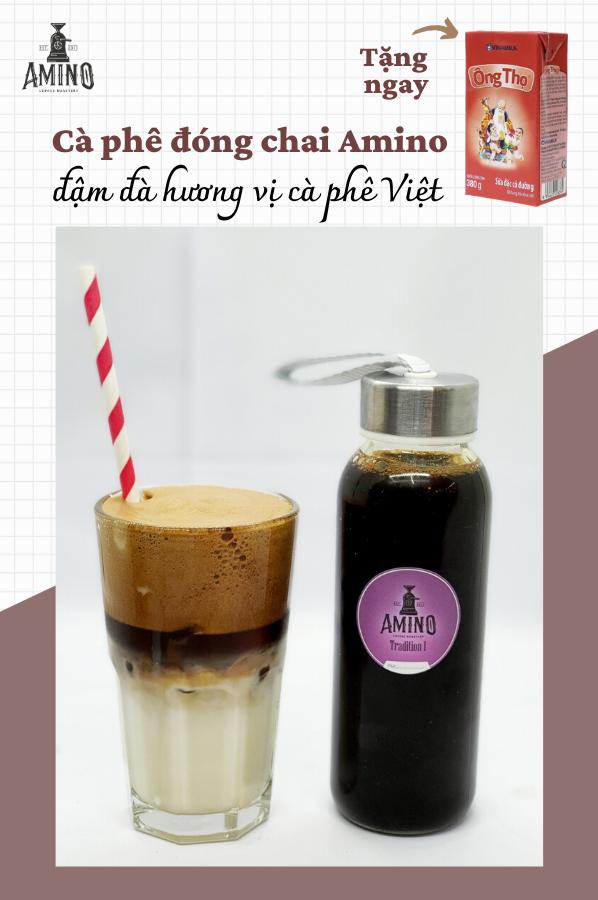 Cà phê pha sẵn đóng chai Amino Coffee