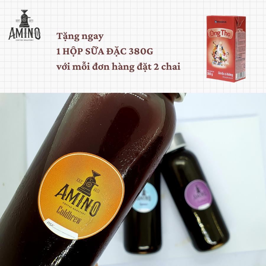 Cafe Amino Coffee Pha Sẵn Đóng Chai Cold Brew