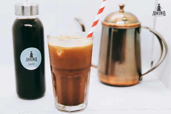 Hướng dẫn pha cafe sữa dừa nướng ngon cùng Amino Coffee