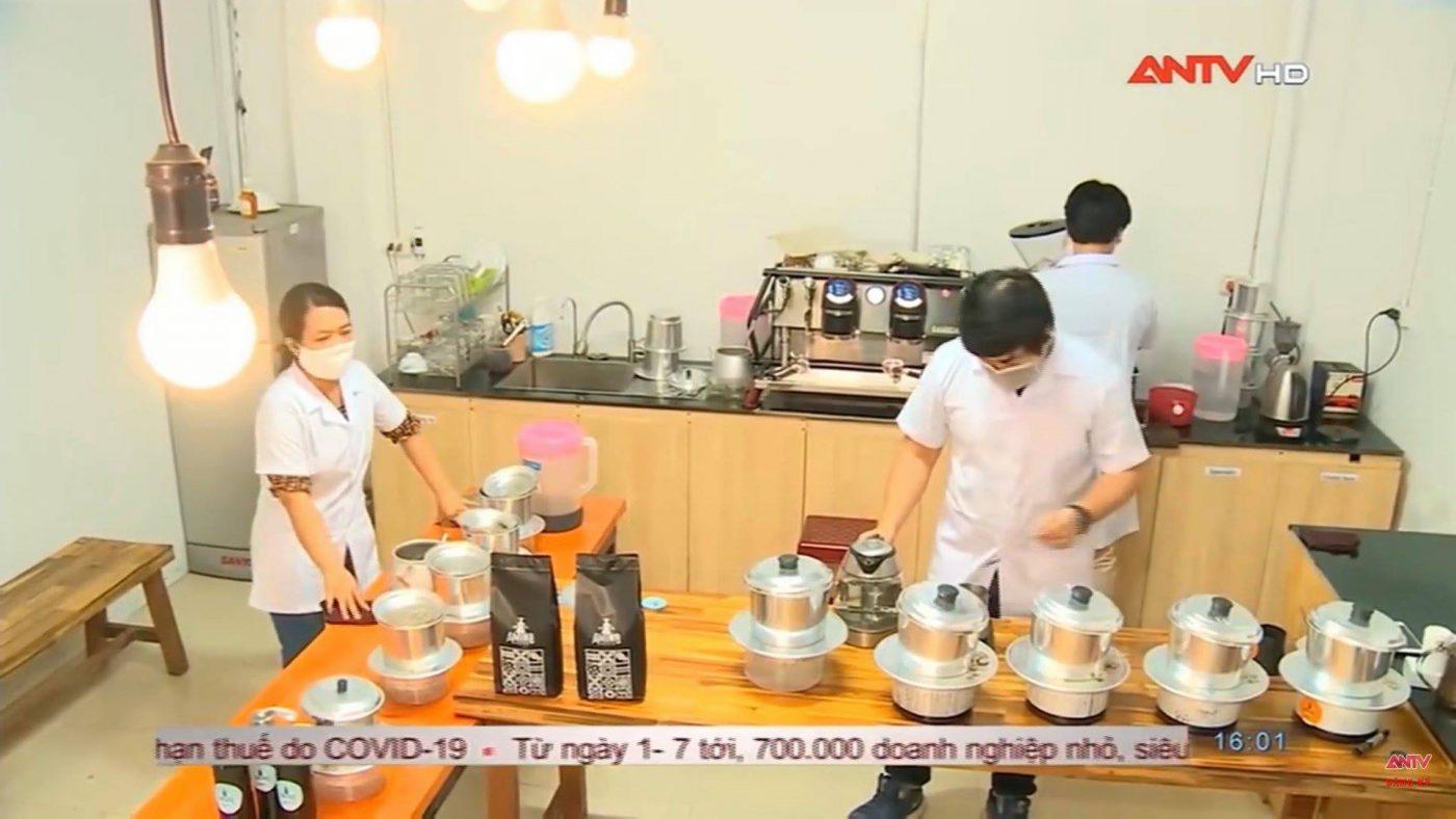 Truyền hình ANTV đưa tin về Amino Coffee - Cafe rang xay