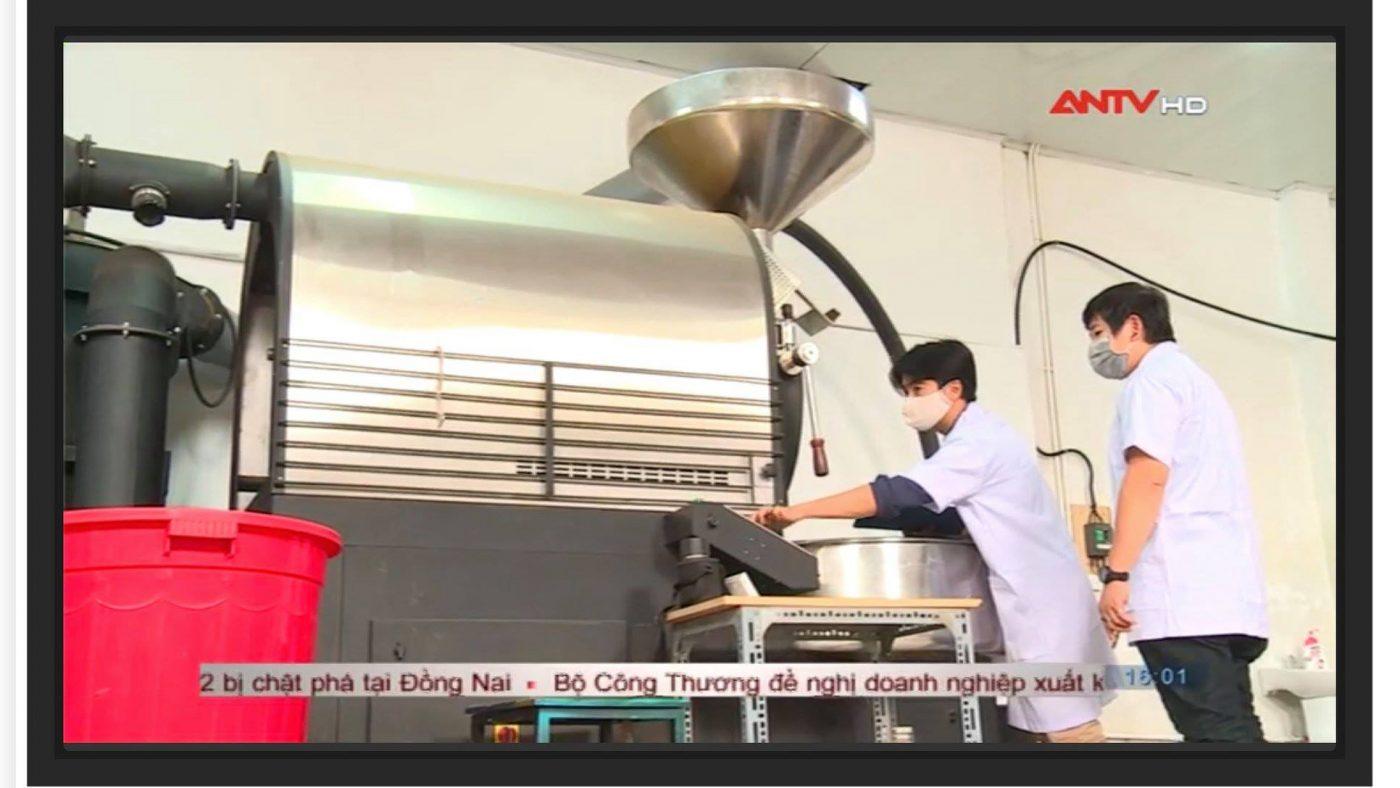 Xưởng cafe Amino Coffee lên truyền hình ANTV